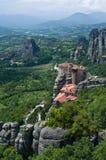 Meteora rock pillars Royalty Free Stock Images