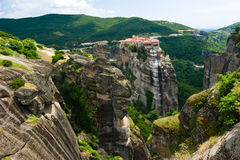 Meteora Rocks Stock Photos