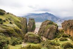 Meteora Rocks, Greece Stock Photo