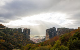 Meteora Rocks, Greece Royalty Free Stock Image