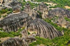 Meteora rocks in Greece. Royalty Free Stock Images