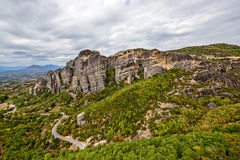 Meteora rocks in Greece Royalty Free Stock Image
