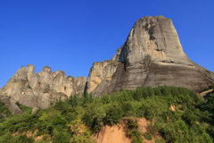 Meteora rocks in Kastraki Stock Photo