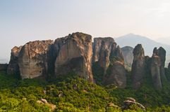 Meteora Rocks Landscape Royalty Free Stock Images