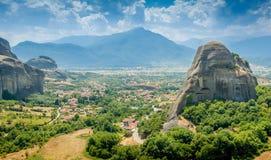 Meteora rocks landscape Stock Photography