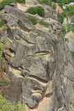 Meteora rocks. Landscape view of the amazing rock formations and monasteries in Meteora, Greece Royalty Free Stock Photography