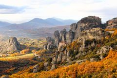 Meteora Rocks and Monasteries, Greece Royalty Free Stock Photos