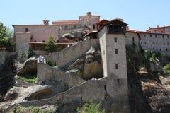 Meteora Rocks and Monasteries in Greece Stock Images