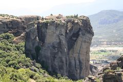 Meteora Rocks and Monasteries in Greece Royalty Free Stock Image