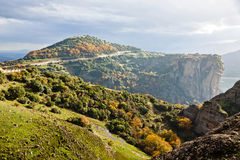 Meteora Rocks and Monasteries in Greece Royalty Free Stock Photography
