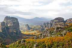 Meteora Rocks and Monasteries in Greece Stock Photography