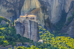 Meteora Rousanou monastery, Greece Stock Images