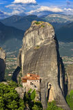 Meteora, the Rousanou Monastery Stock Photos