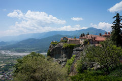 Meteora Roussanou Monastery , Greece Stock Images