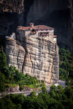 Meteora Roussanou Monastery on rock, Greece Stock Images