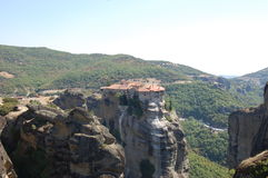 The Meteora in the summer Royalty Free Stock Image