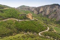 Meteora-Tal, Griechenland Stockfoto
