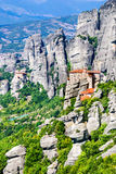 Meteora, Thessaly in Greece stock photos
