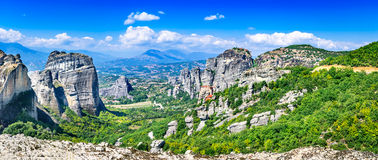 Meteora, Thessaly in Greece stock photo