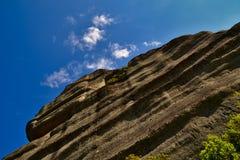 Meteora vaggar framsidan Arkivfoton