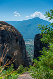 Meteora Valley. Amazing view of the Meteora Valley from Greece Stock Photos