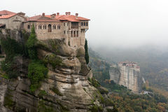 Meteora View. Panoramic View of meteora in Kalabaka Greece Stock Photos