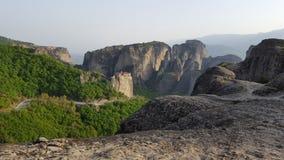 Meteoraen, Grekland Fotografering för Bildbyråer