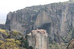 Meteoraklooster in Griekenland, mirakel Royalty-vrije Stock Afbeelding