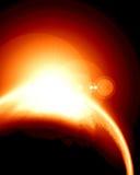 Meteoren får effekt royaltyfri illustrationer