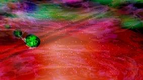 meteorietdaling mars woedend stock illustratie