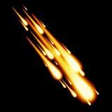 Meteorite burnout in night sky vector illustration