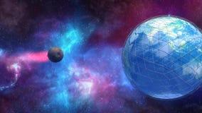 Meteorite che si schianta contro il pianeta Terra Fotografia Stock Libera da Diritti