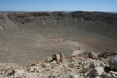 Meteorite Crater in Arizona Royalty Free Stock Images
