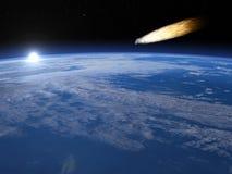 Meteorite - 3D render Stock Image