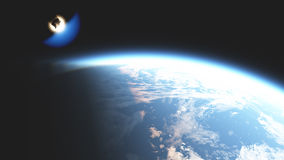 Meteorite entered the atmosphere Stock Photography