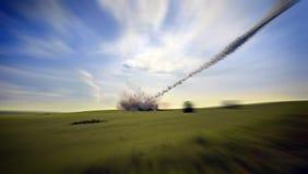 Meteorite falling. The meteorite falling (3d rendering Royalty Free Stock Photography
