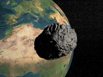 Meteorite going to earth Stock Photo