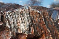 Meteorite. Hoba meteorite in Namibia royalty free stock image
