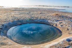Meteorite. Perfectly circular lake. Next  on earth stock photos