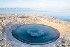 Meteorite. Perfectly circular lake. Next  on earth royalty free stock photography