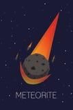 Meteorite. Vector works, Meteorite flat design Royalty Free Stock Photo