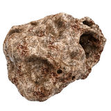 Meteorite  on White 3D Illustration Royalty Free Stock Photo