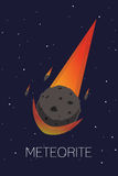 meteorito Foto de archivo libre de regalías