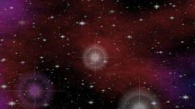 Meteorito da fantasia no cosmos, vídeo da ficção científica com tema do espaço, animação da introdução para leituras astronômicas ilustração royalty free