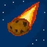 Meteorito del pixel Imagenes de archivo