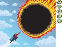 Meteorito estupendo Fotografía de archivo libre de regalías