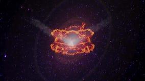 Meteorito que caem do espaço ilustração stock