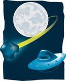 Meteorito y UFO Foto de archivo libre de regalías