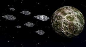 Meteoritos ilustración del vector