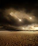 Meteoritos al cielo Fotografía de archivo libre de regalías